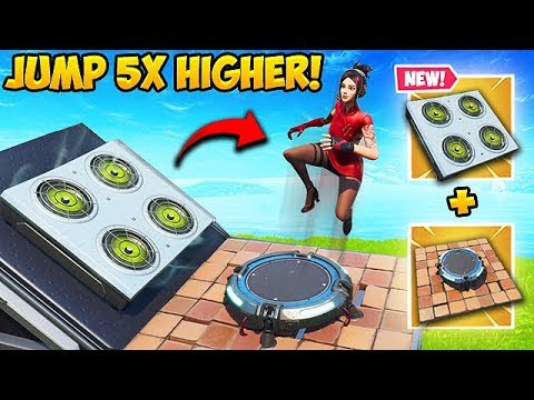 *NEW TRICK* JUMP 5X\'S HIGHER ON LAUNCH PAD! - Fortnite Funny Moments! #573