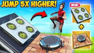 *NEW TRICK* JUMP 5X'S HIGHER ON LAUNCH PAD! - Fortnite Funny Moments! #573