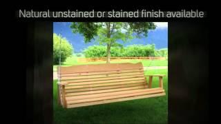 Amish Creek Furniture Classic Red Cedar Porch Swing