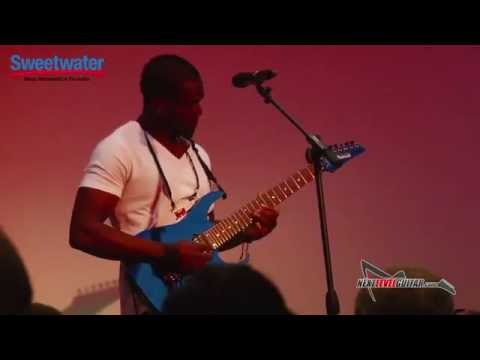 Sweetwater Gearfest 2015 artist Al Joseph clinic 7 string guitarist talks Ibanez guitars and plays