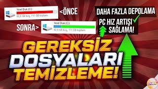 +100 GB BOŞ ALAN KAZANMA (Windows Gereksiz Dosyaları Temizleme)