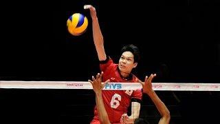 TOP 10 Best Volleyball Spikes by AKIHIRO YAMAUCHI (山内 晶大) 2017