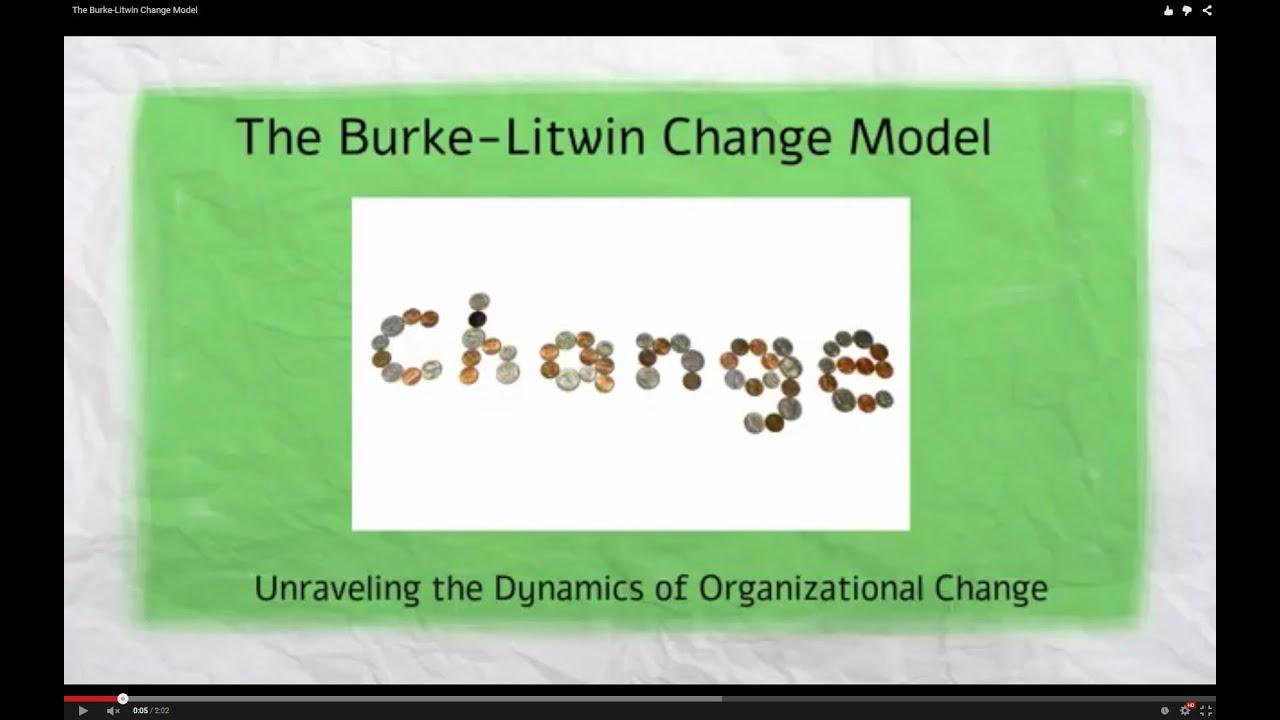 burke litwin model of organizational performance & change