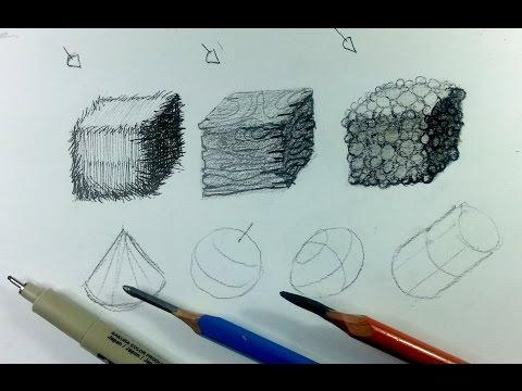 How to create textures: Pen vs. Pencil vs. Charcoal