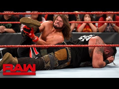 AJ Styles vs. Braun Strowman – United States Championship Match: Raw, Aug. 26, 2019