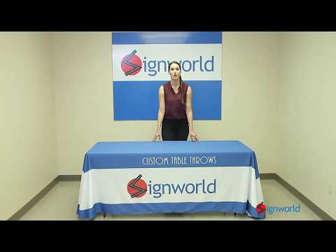 Signworld 8Ft 4-Sided Table Throw