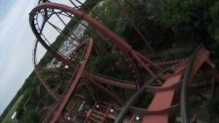 Iron Wolf Front Row Seat on-ride POV Six Flags Great America