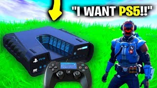 I Pretended I Got A Playstation 5 EARLY.. (Fortnite)