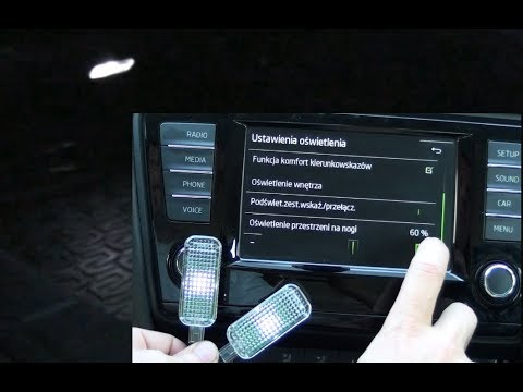 Footwell Ligthing Installation And Activation Octavia Mk3 5e3a7