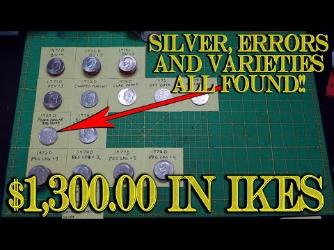 $1,300.00 Eisenhower Dollar Coin Varieties, Errors And BIG SILVER COINS FOUND!!