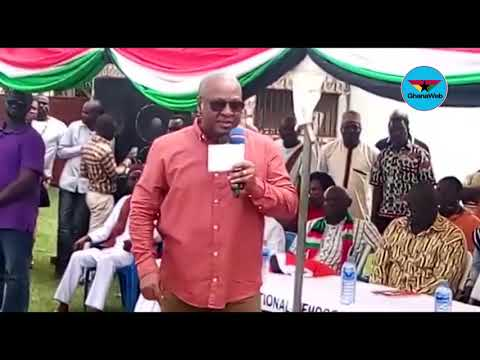 Mahama takes campaign to the Central Region