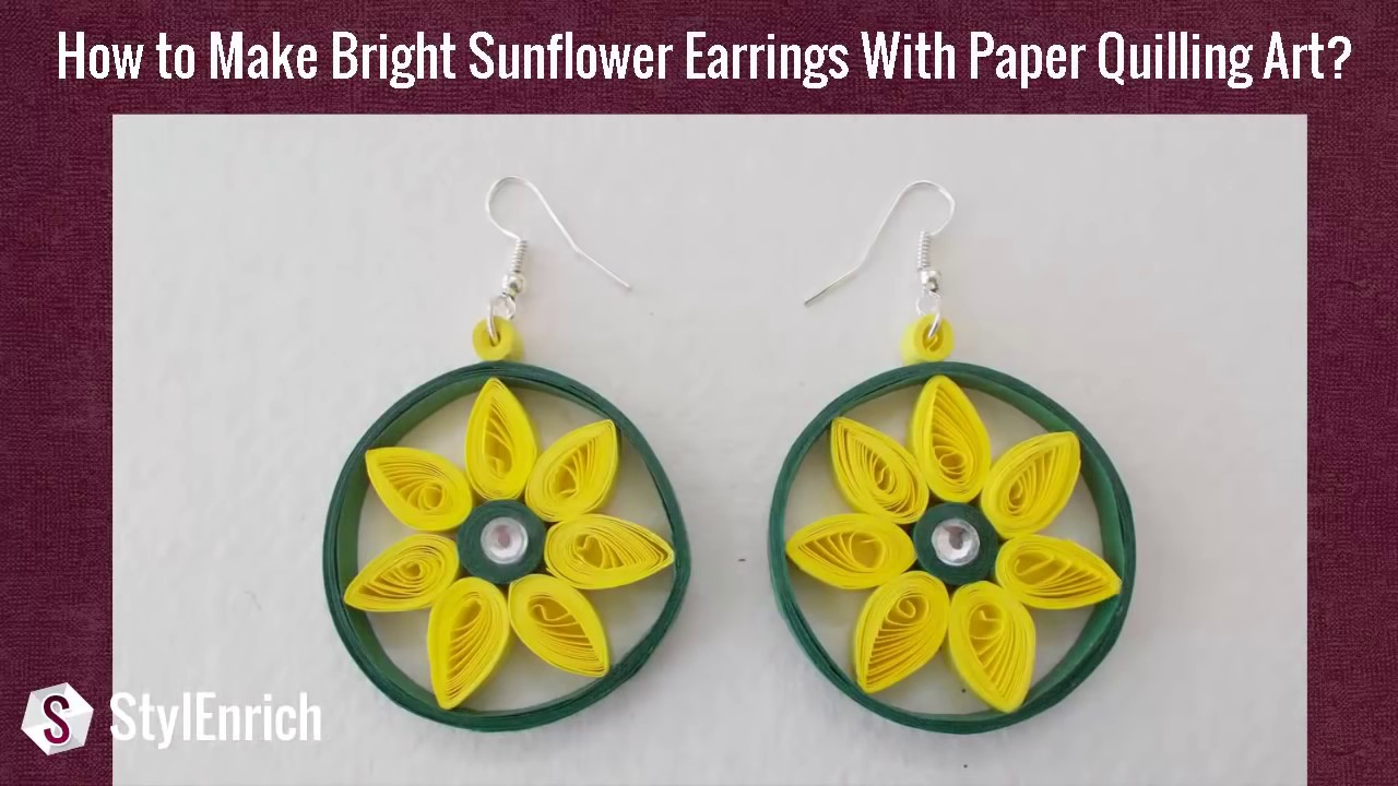 Easy DIY Jewelry : How to Make Beautiful Paper Earrings at home ...