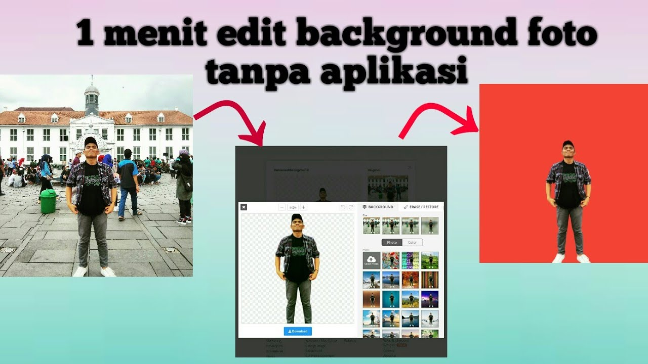 Cara Cepat Edit Background Foto tanpa Aplikasi - YouTube
