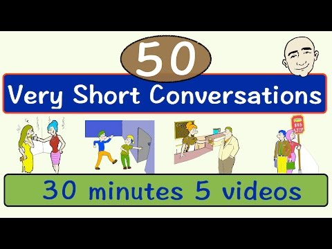 50 Very Short Conversations | Volume 1 | English Speaking Practice | ESL | EFL