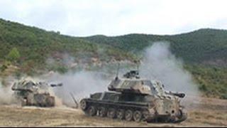 Российская артиллерия бьет по «противнику» в горах Южной Осетии(Свыше 2 тысяч военнослужащих и 50 единиц техники задействованы в учениях в горах Южной Осетии, где находится..., 2016-04-26T08:23:30.000Z)
