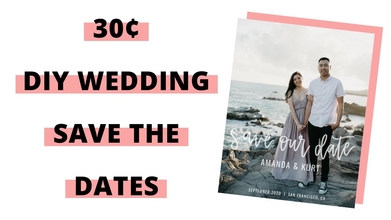 Download WEDDING SERIES - DIY SAVE THE DATES USING CANVA   10-30 CENTS EACH!