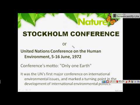 UPSC PRELIMS - 2017 - ENVIRONMENT - STOCKHOLM CONFERENCE 1972