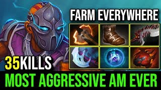 The Most Aggressive Anti Mage Eve - NEXT LEVEL FARMING ALL OVER THE MAP 35KIlls By Robo   Dota 2