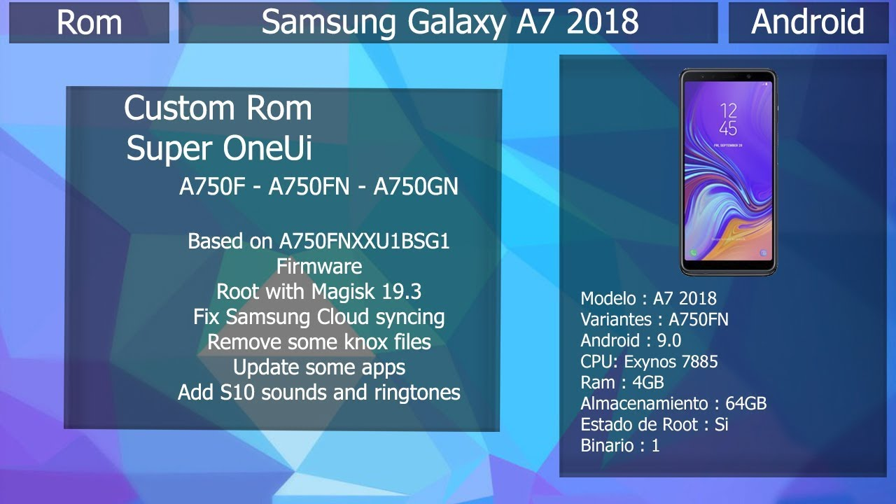 Rom Super One UI V2 - Android 9 0 - Samsung Galaxy A7 2018