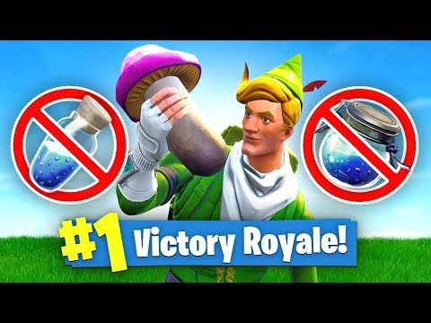 Using *ONLY* MUSHROOMS To WIN In Fortnite Battle Royale (Challenge)