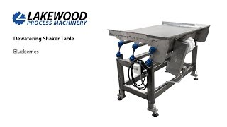 dewatering shaker table lakewood process machinery