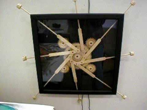 Wooden Gear Kinetic Art, Prototype Mechanism #1