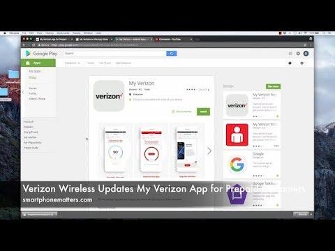 Verizon Wireless Updates My Verizon App for Prepaid Customers