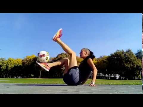 Joey Brooks - Girl Uses Fancy Footwork During Freestyle Soccer Routine