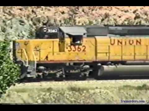 Classic Railroad Series 432 - UP 3362 West at Blue Cut March 31, 1989
