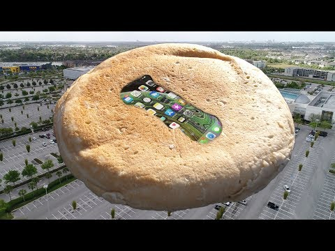 GIANT iPancake iPhone XS 400 FT Drop Test! Spigen Tough Armor XP Case Test!