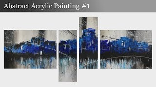 Abstract Acrylic Painting #1 - Abstract Art - Skyline by Daniel Grabski
