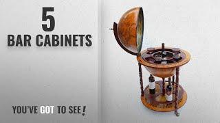 Top 10 Bar Cabinets [2018]: WestWood Globe Shaped Mini Bar Drinks Cabinet Retro Style Host Trolley