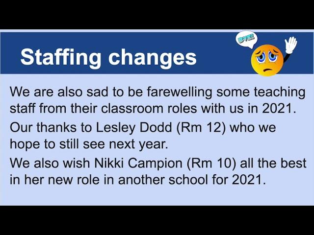 Principal Update - Week 2, Term 4 - 2020
