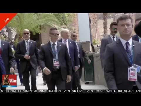 President Trump Asked to Stay Back Due to SECURITY Concerns at G7 Summit Taormina, Sicily, Italy