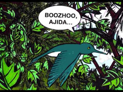 Boozhoo, Ajidamoo (Ojibwe Language Book Advertisement)