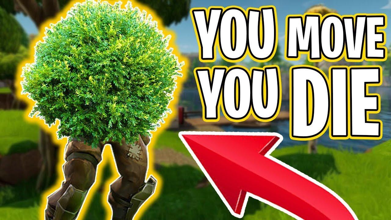 You Move You Die Bush Update Fortnite Battle Royale 4