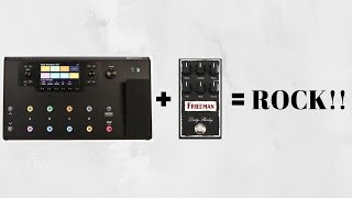 Line 6 Helix + Friedman Dirty Shirley pedal = Rock/HardRock Super Tone!