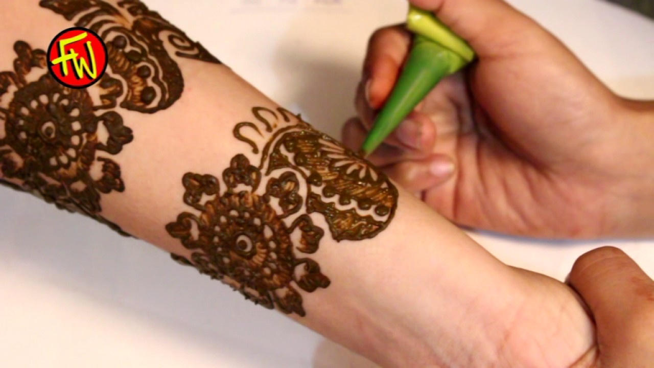 How To Do Arabic Mehndi Design At Home Youtube