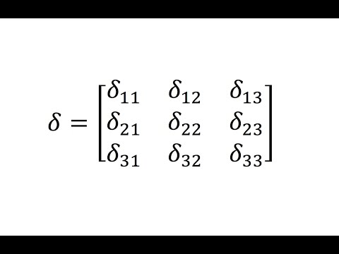 Index/Tensor Notation - Introduction To The Kronecker Delta - Lesson 1