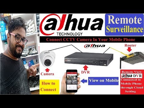 Dahua DVR Remote Surveillance (Mobile Configure) STEP BY STEP IN HINDI