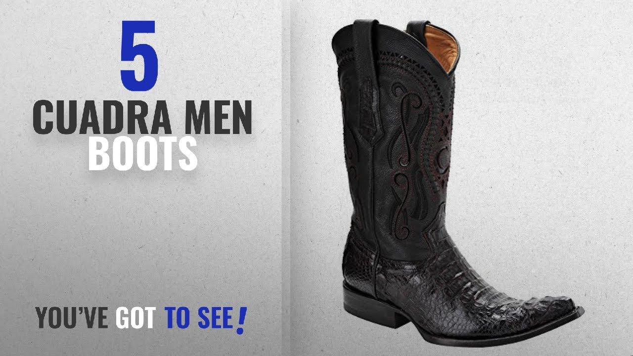 6b929d4a884 Top 10 Cuadra Men Boots [ Winter 2018 ]: Horn Back Crocodile Cuadra Boots  (7 D(M) US, Black Cherry)