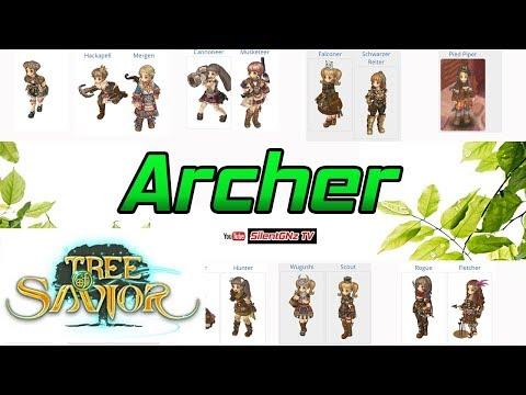 Tree of savior  อาชีพ Archer อธิบายความสามารถทุกอาชีพในสายนี้