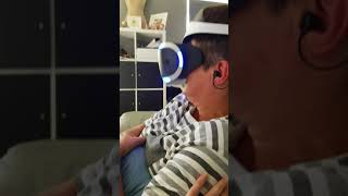 Lmao mums first experience of the ps4 vr (shark experience) must watch funny as hell