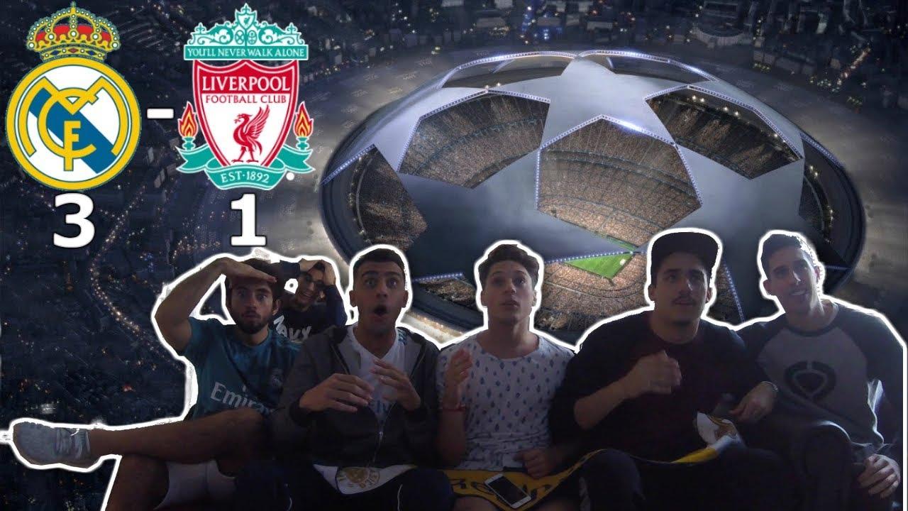 ||REACCIONES|| REAL MADRID 3 VS LIVERPOOL 1|| FINAL UEFA CHAMPIONS LEAGUE 2017/2018||