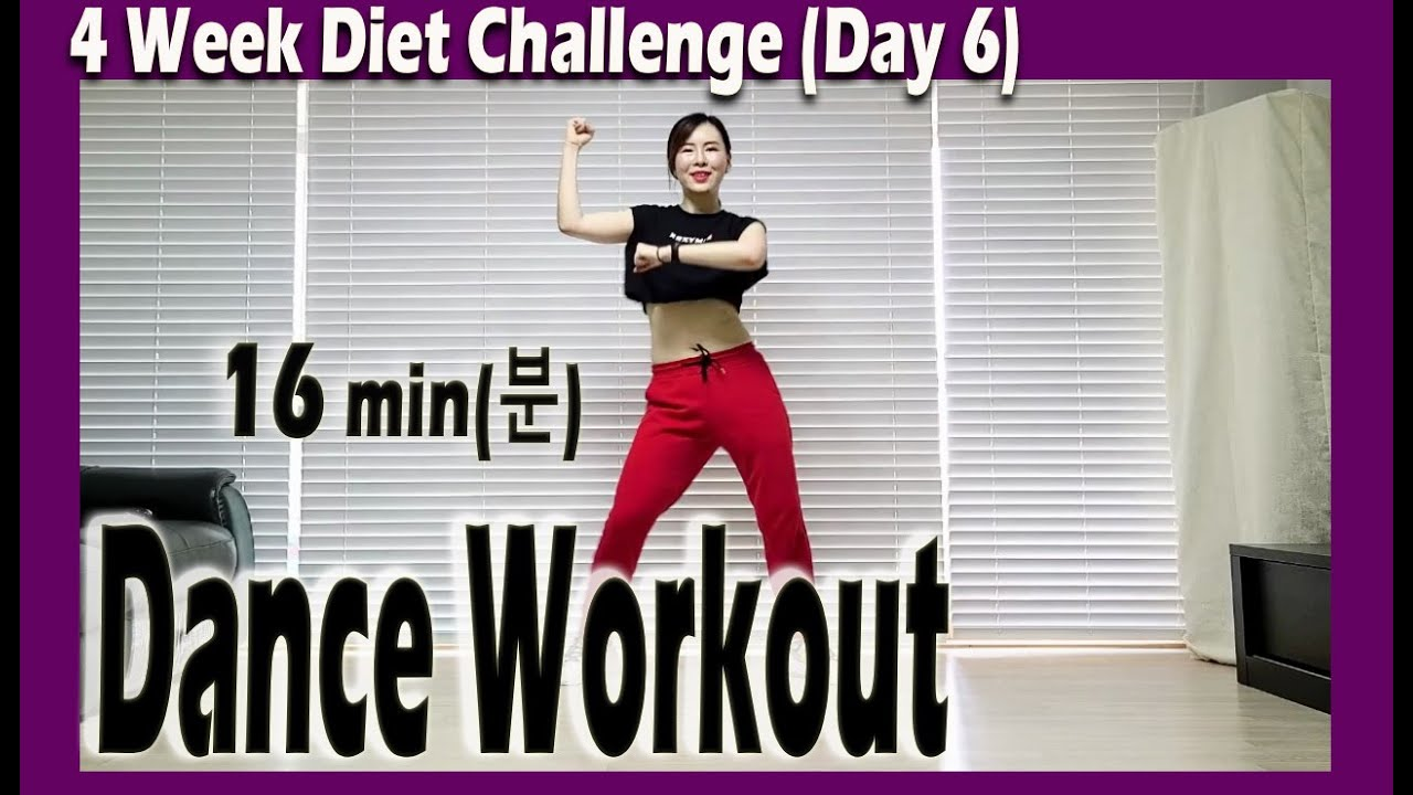 [4 Week Diet Challenge] Day 6-1 | 16 minute Dance Diet Workout | 16분 댄스다이어트 | 홈트| Sunny Funny Zumba