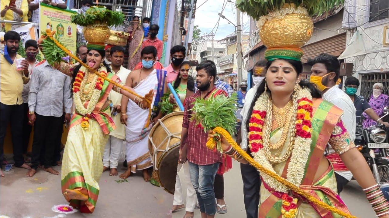 Uppuguda Bonalu 2020   Jogini Nisha Kranthi Dance At Uppuguda Mahankali Temple   #OldCityBonalu2020