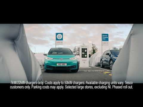 Charge your electric car at Tesco with Volkswagen and Pod Point.