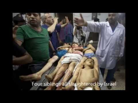 Children of Gaza Palestine Murdered by Israel 2014: Don't look away