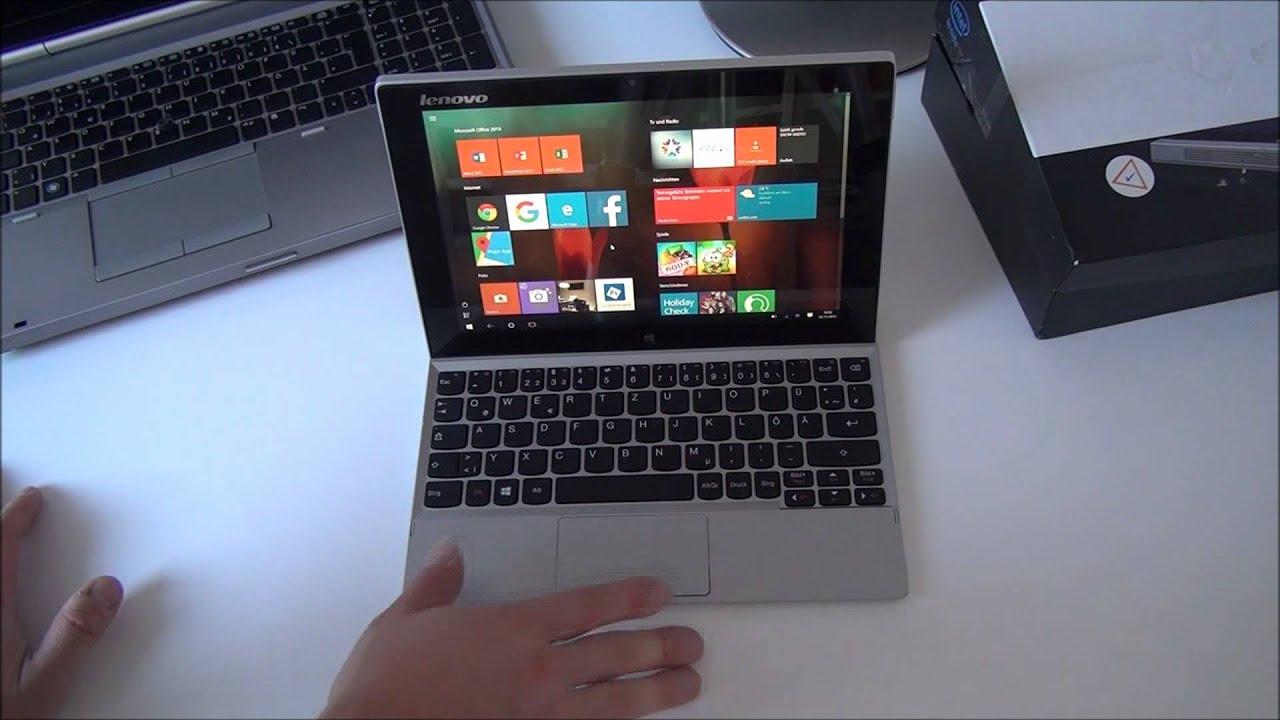 lenovo miix 2 10 windows 10 test deutsch 10 1 zoll fhd ips office 2013 notebook tablet atom. Black Bedroom Furniture Sets. Home Design Ideas