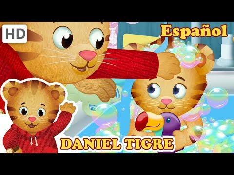 Daniel Tigre en Español 🛁 Tiempo de Baño con Bebé Margaret y Daniel! | Videos para Niños